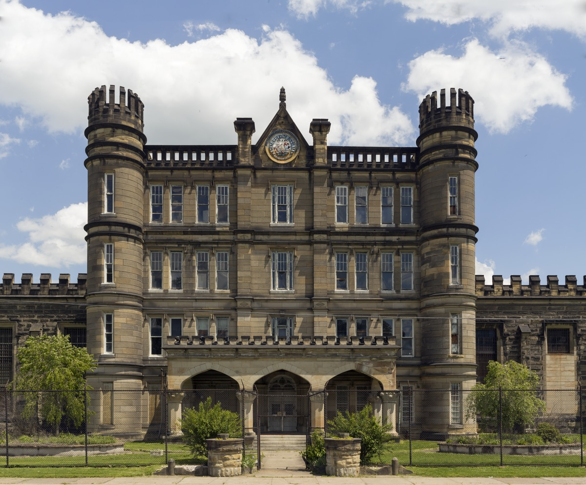 The West Virginia State Penitentiary a retired gothic style prison in Moundsville West Virginia that operated from 1876 to 1995 LCCN2015631907.tif
